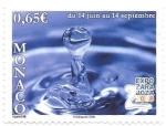Sellos de Europa - Mónaco -  agua