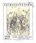 Stamps Czechoslovakia -  pintura moderna