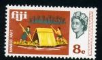 Stamps Oceania - Fiji -  Balsa de bambú
