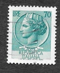 Stamps Europe - Italy -  786A - Moneda de Siracusa