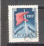 Sellos del Mundo : Europa : Polonia : RESERVADO bandera