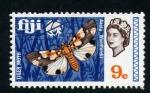 Stamps Oceania - Fiji -  polilla tigre