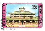 Sellos de Asia - Mongolia -  arquitectura tradicional