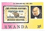 Stamps : Africa : Rwanda :  sir Rowland Hill