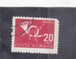 Sellos de Europa - Rumania -  corneta de correos
