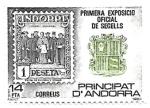 Stamps : Europe : Andorra :  sello y escudo