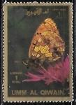 Sellos de Asia - Emiratos Árabes Unidos -  Mariposas - large format