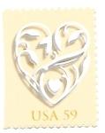 Sellos del Mundo : America : Estados_Unidos : corazón