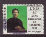 Stamps of the world : Honduras :  80 años salesianos