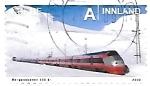 Sellos de Europa - Noruega -  trenes