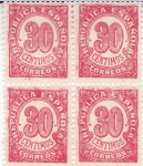 Stamps Spain -  Cifras (39)