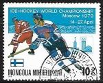 Stamps : Asia : Mongolia :  Hockey sobre Hielo - Finlandia