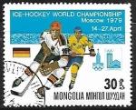 Stamps : Asia : Mongolia :  Hockey sobre Hielo - Alemania