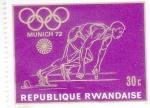 Stamps : Africa : Rwanda :  Olimpiada Munich-72