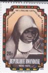 Stamps Rwanda -  75 aniversario de la iglesia católica en Rwanda