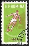 Stamps : Europe : Romania :  Fútbol