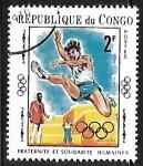 Stamps : Africa : Republic_of_the_Congo :  Juegos Olímpicos - Salto de Longitud
