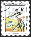 Stamps : Africa : Republic_of_the_Congo :  Juegos Olímpicos | Lanzamiento de Jabalina