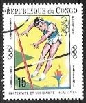 Stamps : Africa : Republic_of_the_Congo :  Juegos Olímpicos - Salto con Pértiga
