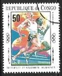 Stamps : Africa : Republic_of_the_Congo :  Juegos Olímpicos -     Carreras y Corredores