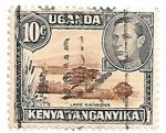 Sellos de Africa - Uganda -  lago navasha
