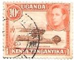 Sellos del Mundo : Africa : Uganda :  lago navasha