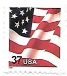 Stamps United States -  bandera