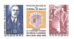 Stamps : Europe : Andorra :  Charles de Gaulle
