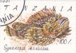 Sellos de Africa - Tanzania -  PEZ- synanceia verrucosa