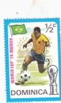 Sellos del Mundo : America : Dominica : Mundial Futbol Munich'74