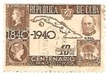 Stamps : America : Cuba :  centenario del sello