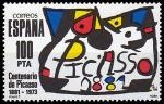 Stamps : Europe : Spain :  Centenario de Picasso