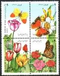 Stamps : Asia : Iran :   AÑO  NUEVO.  TULIPANES  Y  MARIPOSAS.