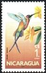 Stamps : America : Nicaragua :   COLIBRÍ   TOPACIO