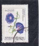Stamps Argentina -  flores- Campanilla