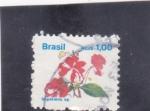 Stamps Brazil -  flores- impatiens