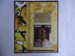 Stamps America - Colombia -  Gabriel Garcia Marquez - Oleo de Darío Ortiz Robledo-Hoja Filatelica del Recuerdo N°1591