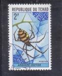 Stamps Chad -  argiope sector- genero de arañas