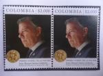 Sellos de America - Colombia -  Premio Nobel de la Paz 2016 - Juan Manuel Santos Calderón-Presidente de Colombia 2010/18