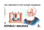 sello : Asia : Maldivas : Graham Bell