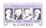 Sellos del Mundo : America : San_Vicente_y_las_Granadinas : presidentes EE.UU.