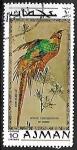 Sellos del Mundo : Asia : Emiratos_Árabes_Unidos : Aves exoticas -Golden Pheasant