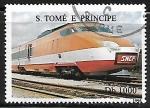 Sellos del Mundo : Africa : Santo_Tomé_y_Principe : TGV from France