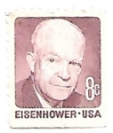 Sellos de America - Estados Unidos -  Eisenhower