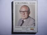 Stamps : America : Colombia :  Presidente Alfonso López Michelsen (1913-2007) Presidente de Colombia 1974/78