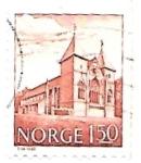 Stamps : Europe : Norway :  arquitectura tradicional