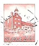 Sellos de Europa - Noruega -  arquitectura tradicional