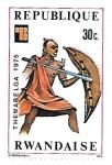 Stamps Rwanda -  guerrero