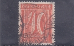 Stamps Germany -  cifra