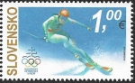 Stamps : Europe : Slovakia :  JJ.OO. Invierno de Corea del Sur.  Eslovaquia 2018  1€